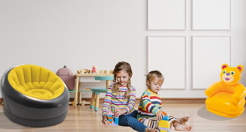 Créez une formidable salle de jeux avec du mobilier gonflable