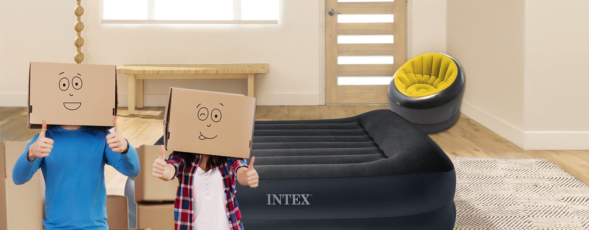 Aménager un appartement étudiant : et si INTEX avait LA solution gonflée ?!
