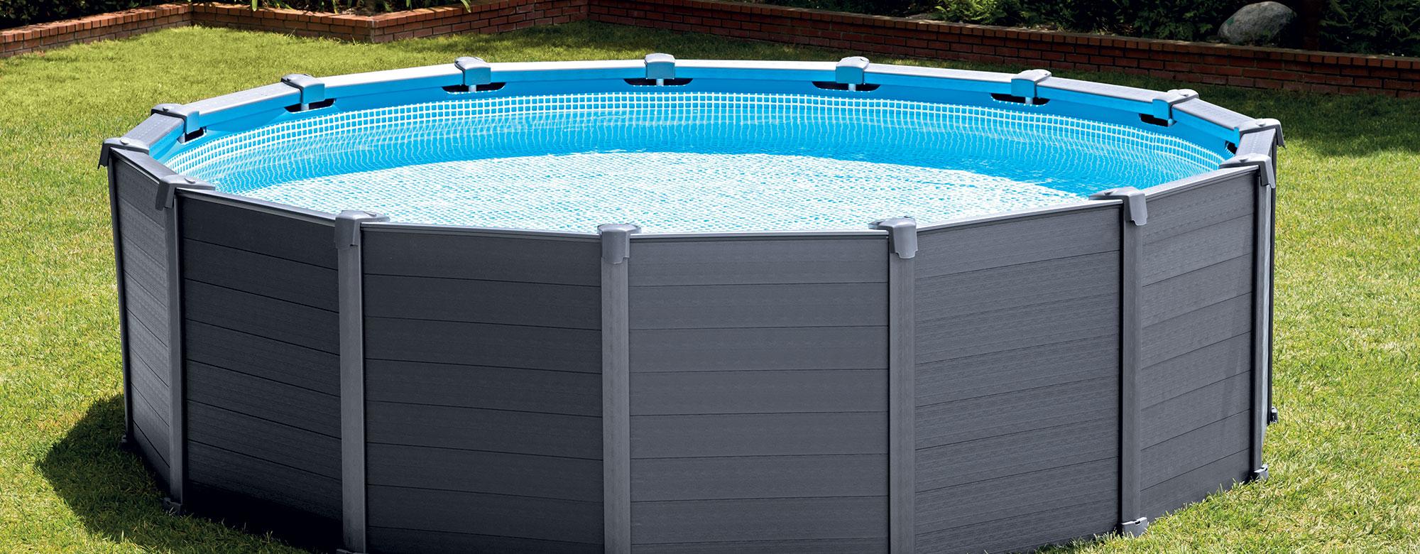 Installer ma piscine Graphite Intex