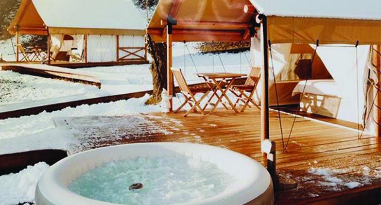 Utiliser son spa gonflable à l'extérieur l'hiver