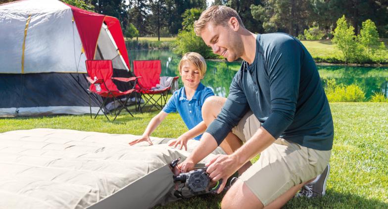 Un matelas gonflable pour le camping