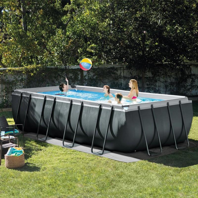 Kit piscine ultra xtr rectangulaire intex 5 49 x 2 74 x 1 32 m - Piscine hors sol rectangulaire intex ...